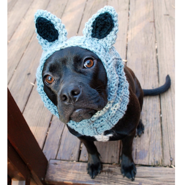 Grey Raccoon Crochet Snood