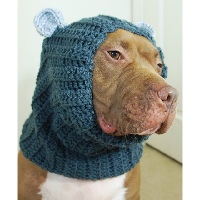 Grey with Sparkly Ears Crochet Snood