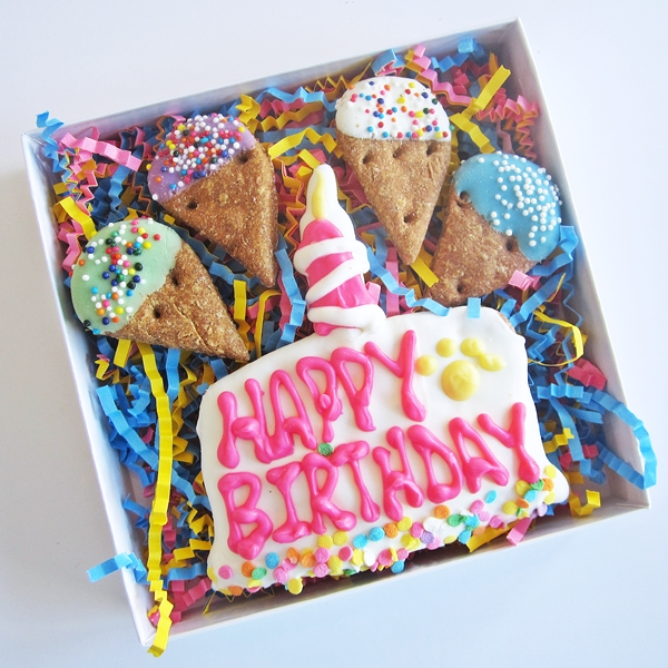 Happy Birthday Cake and Ice Cream Dog Treat Assortment