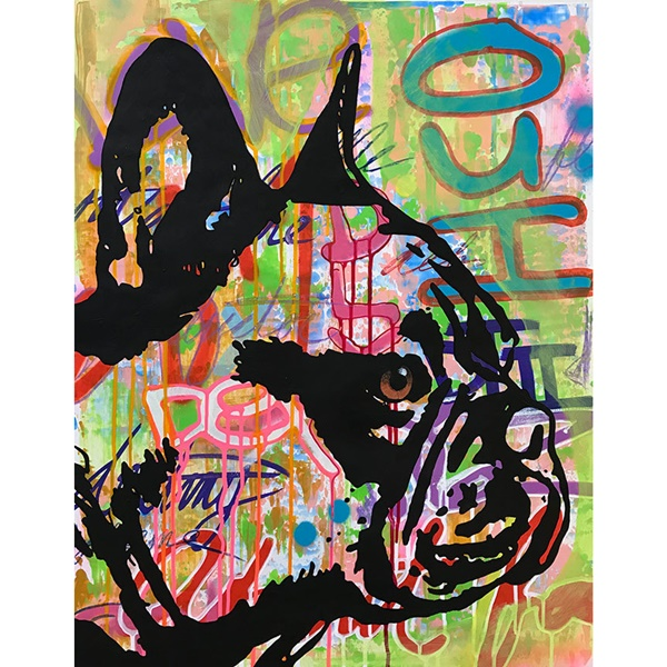 Indelible Frenchie Indelible Dog Dean Russo Print