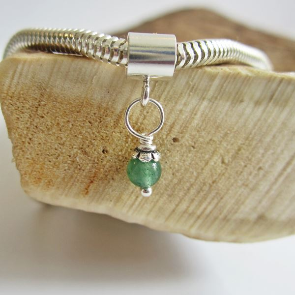 Jade 5mm Czech Glass Bead Charm and Bracelet