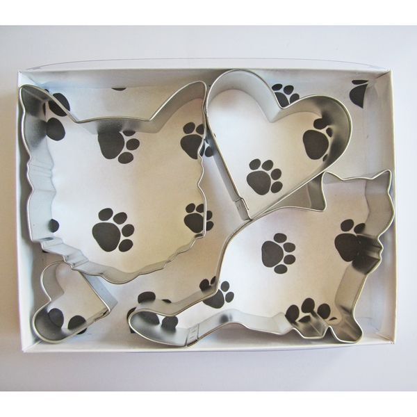 Kitty Love Four Piece Cookie Cutter Set