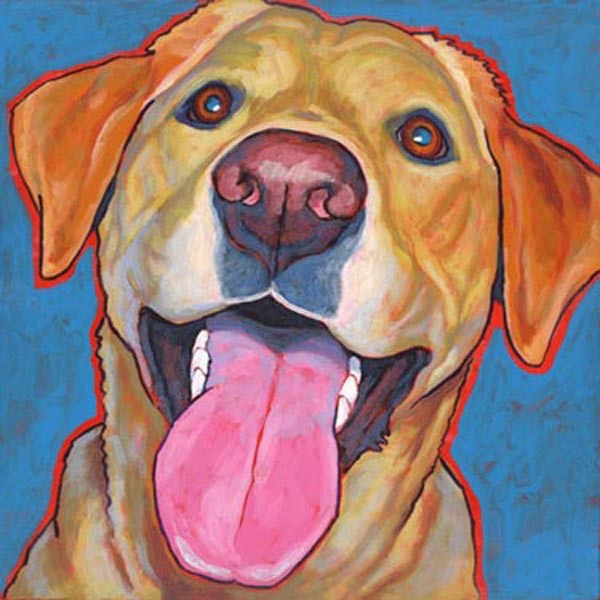Yellow Labrador Smiling Print - ONLY 1 LEFT