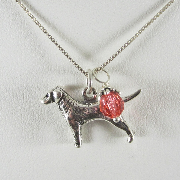 Labrador Large Charm Sterling Silver Necklace