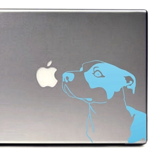 Baby Blue Pit Bull Large Decal