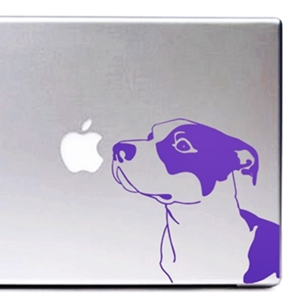 Purple Pit Bull Large Decal