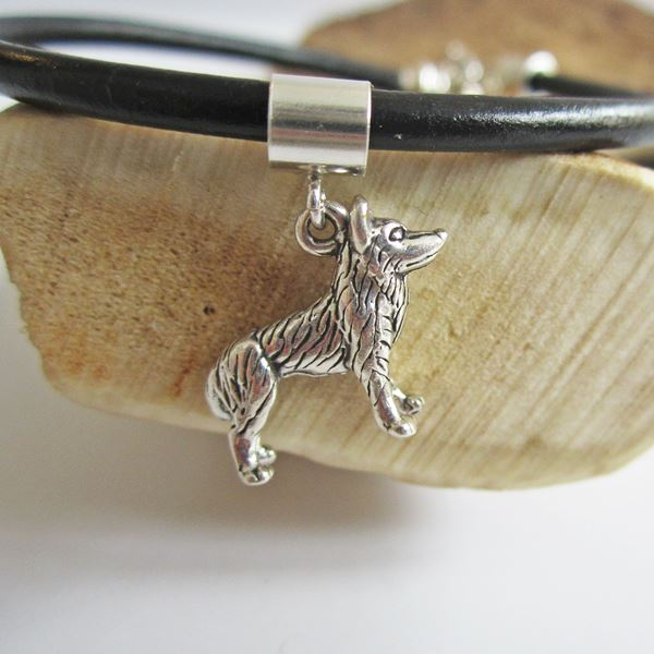 Husky Large Str Silver European-Style Charm and Bracelet