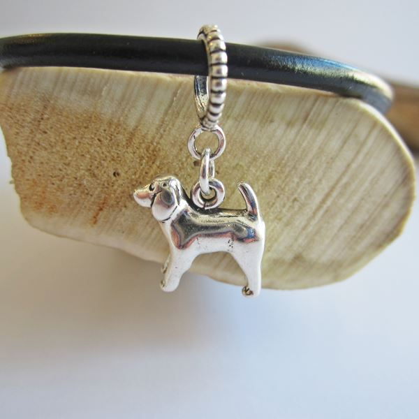 Spaniel Large Sterling Silver European-Style Charm and Bracelet