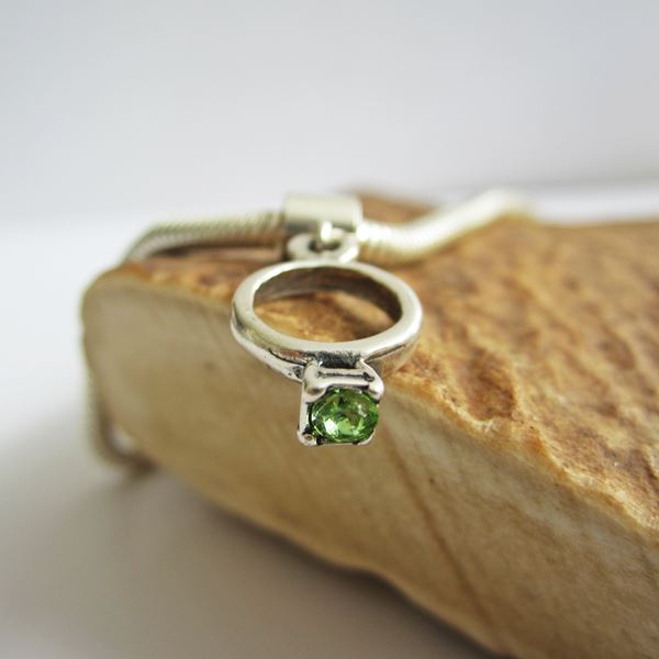 Light Green Birthstone Ring European-Style Charm and Bracelet