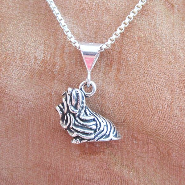 Maltese Large Pendant Charm and Necklace