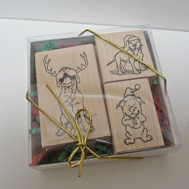 Merry Pitmas Rubber Stamp Gift Set