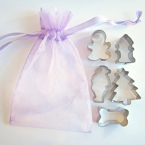 Christmas Mini Doggie Five Piece Cookie Cutter Set