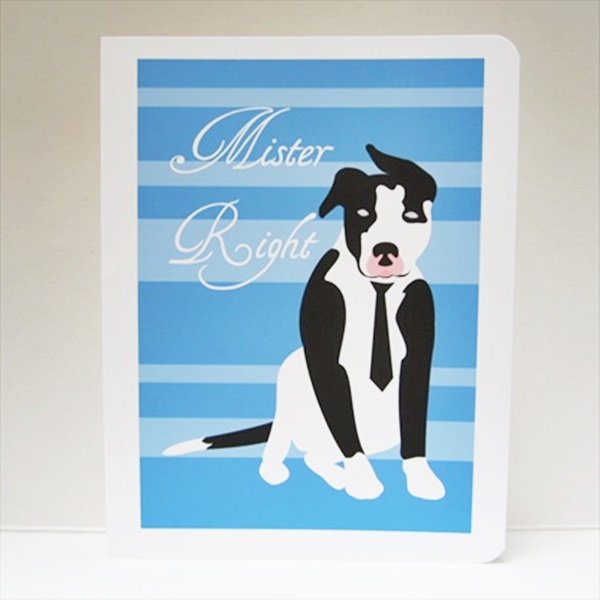 Pit Bull Mister Right Note Cards