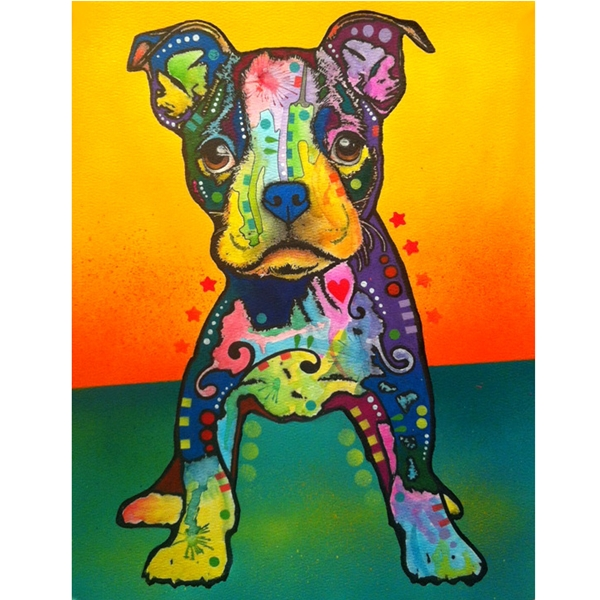 On My Own Pit Bull Print by Dean Russo - Discontinued