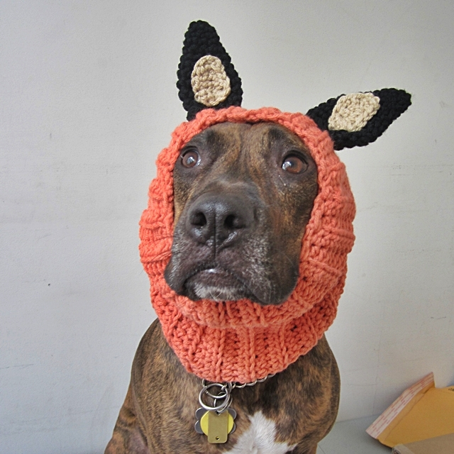 Orange Wolf Crochet Snood