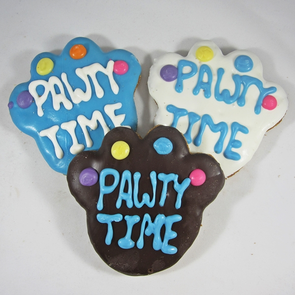 Large Pawty Time Paw Dog Treat