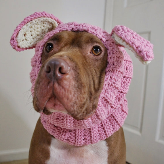 Pink Rabbit Crochet Snood