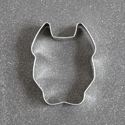 Pit Bull Face Cropped Ears Cookie Cutter
