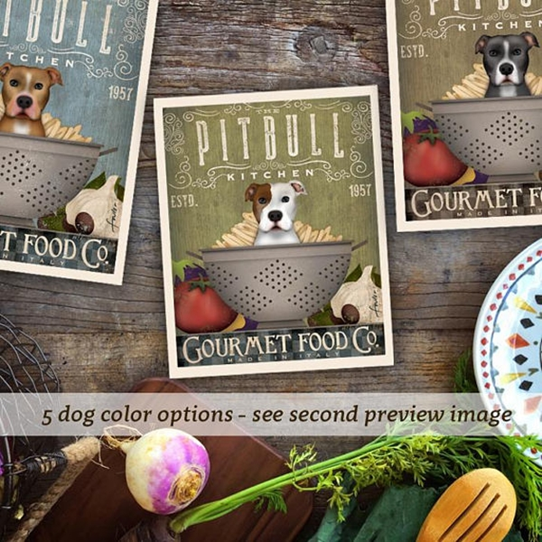 Pit Bull Kitchen Gourmet Food Company 8x10 Giclee Print (multi c