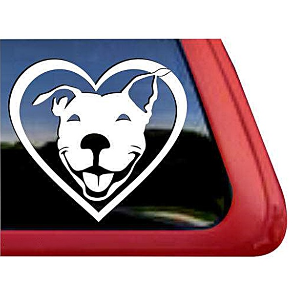 Pit Bull Heart Large Decal