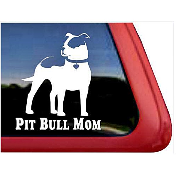 Pit Bull Mom Large Decal