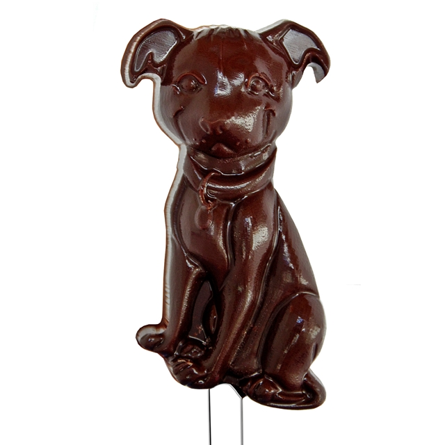 Pit Bull Chocolate Lollipop Mold