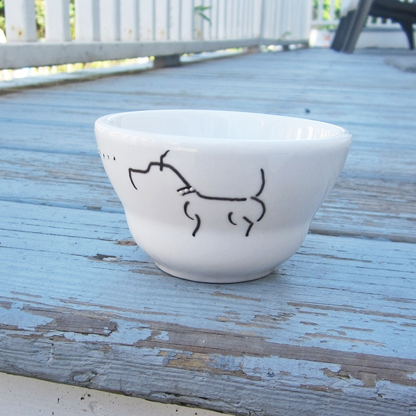 Pit Bull Handpainted Snack Bowl
