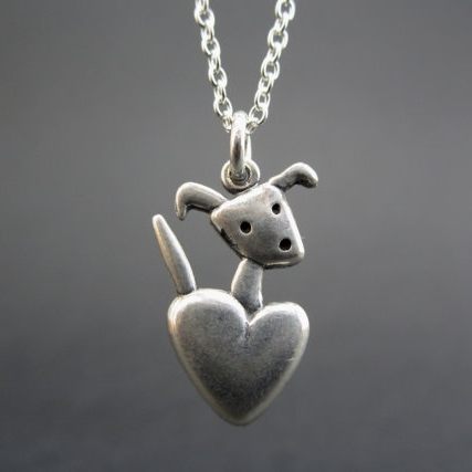 Pocket Pup Sterling Silver Necklace