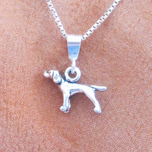Pointer Mini Pendant Charm and Necklace