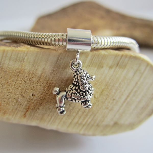 Poodle  Mini Sterling Silver European-Style Charm and Bracelet