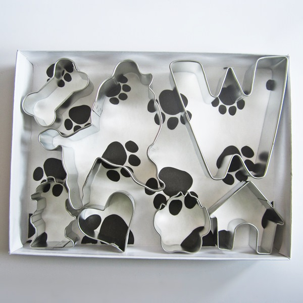 Poodle Six Piece Cookie Cutter Set