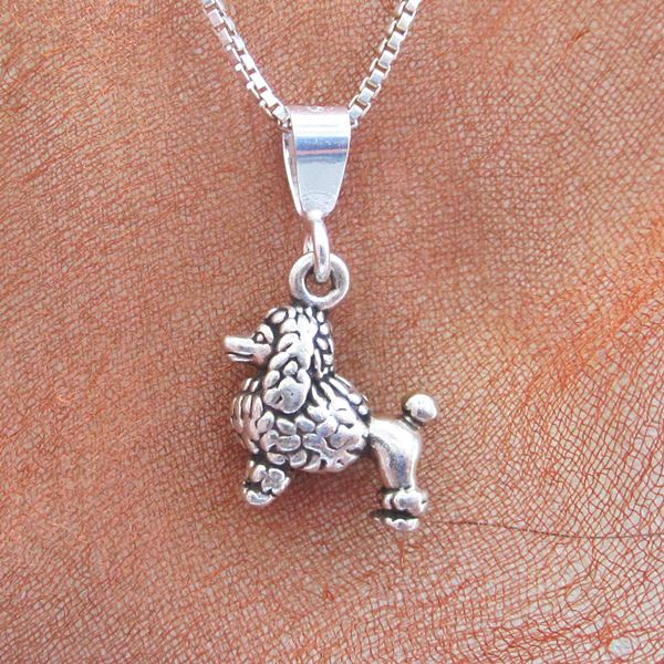 Poodle Mini Pendant Charm and Necklace