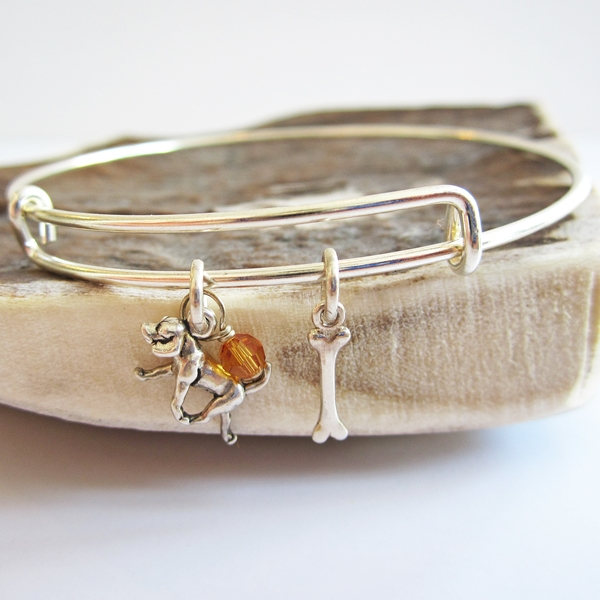 Retriever Mini Bone Stackable Bangle Bracelet