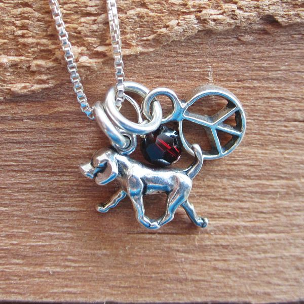 Retriever Mini Peace Sterling Silver Necklace