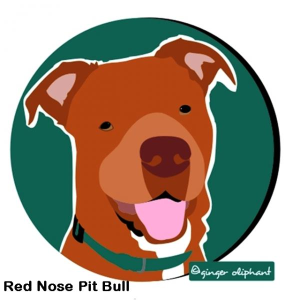 Red Nose Pit Bull Mouse Pad