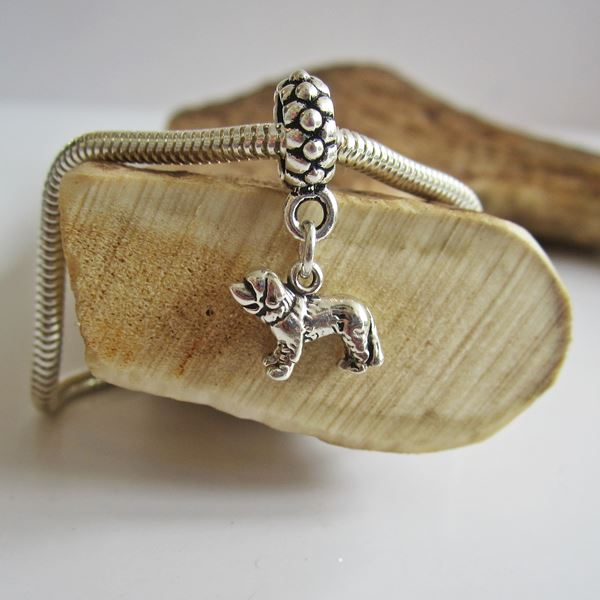 Saint Bernard Mini Ster Silver European-Style Charm and Bracelet