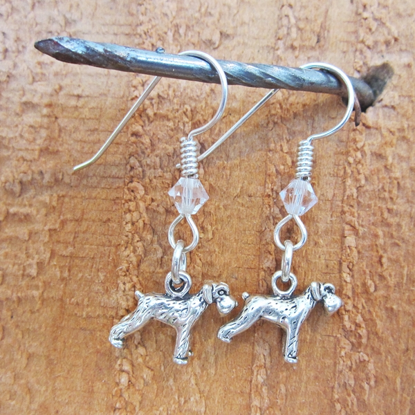 Schnauzer Sterling Silver Earrings