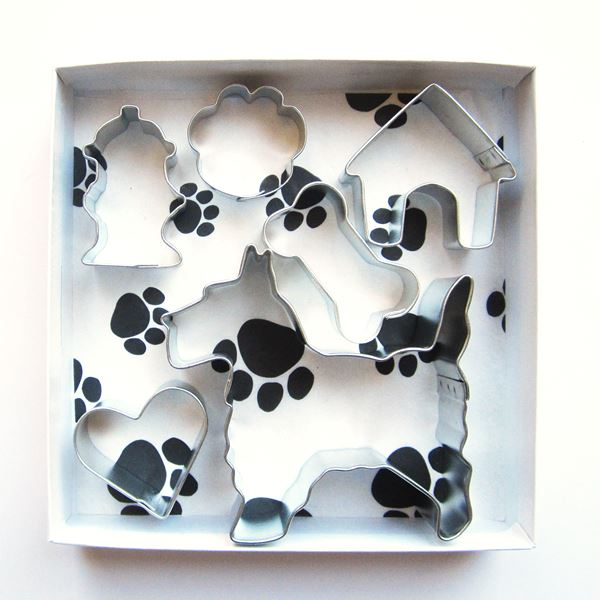 Scottish Terrier Six Piece Cookie Cutter Set + a Letter!