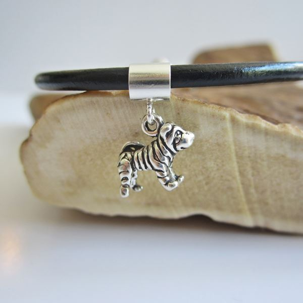 Shar-Pei Mini Sterling Silver European-Style Charm and Bracelet
