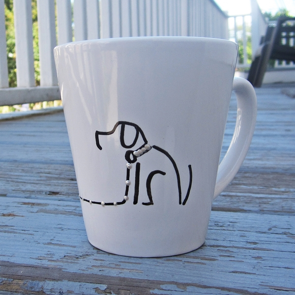 Sit Stay Handpainted 12oz. Mug
