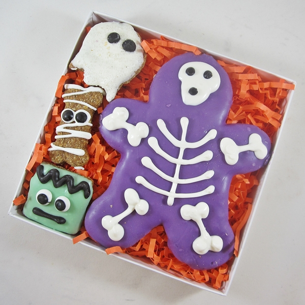 Skeleton Halloween Dog Treat Assortment
