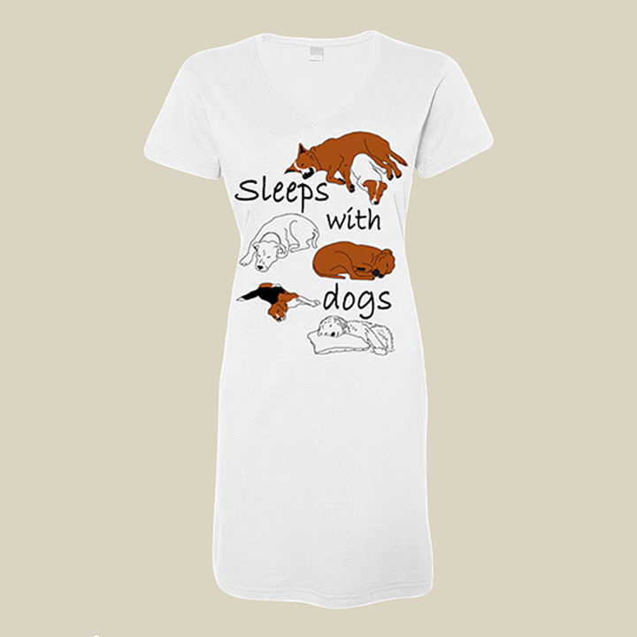 Sleeps with Dogs Ladies Nightshirt
