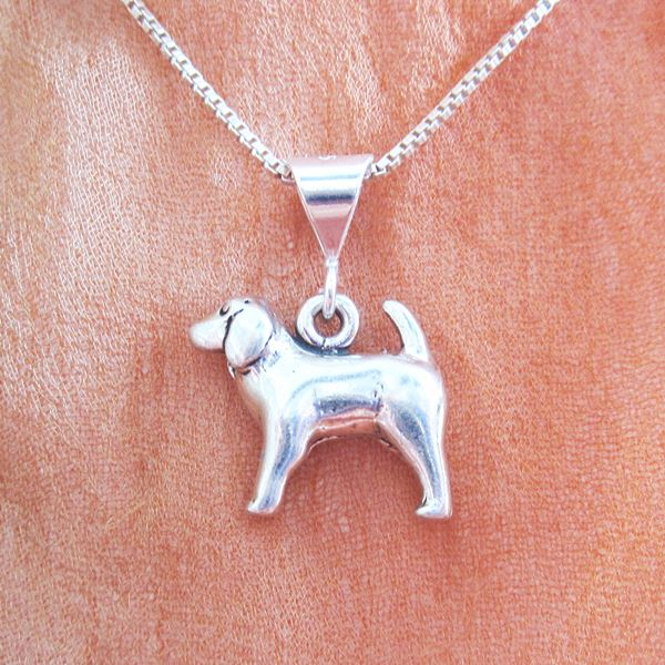 Spaniel Large Pendant Charm and Necklace