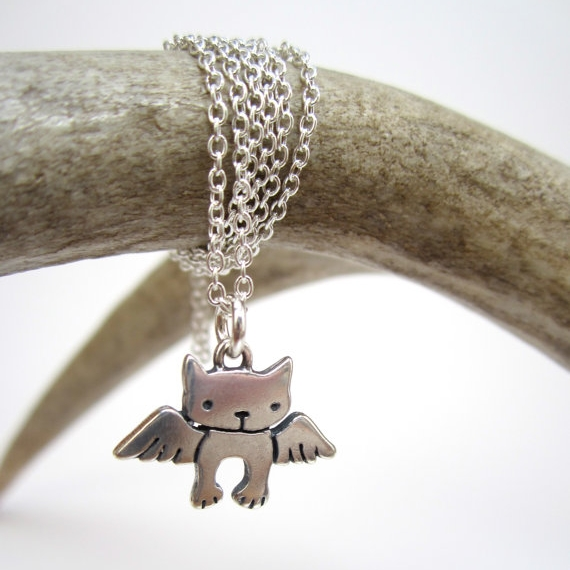 Angel Kitty Mini Sterling Silver Necklace