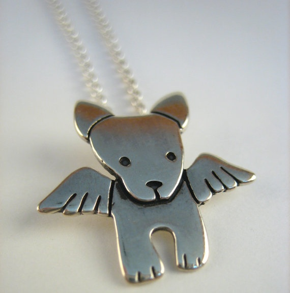 Sterling Silver Angel Pibble Necklace