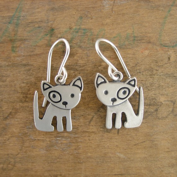 Spot Pibble Sterling Silver Earrings