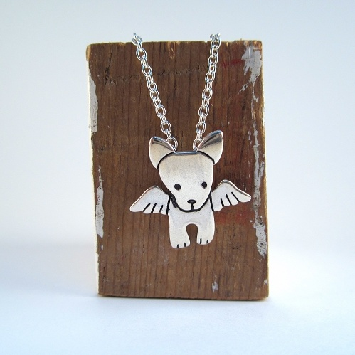 Angel Pibble Mini Sterling Silver Necklace