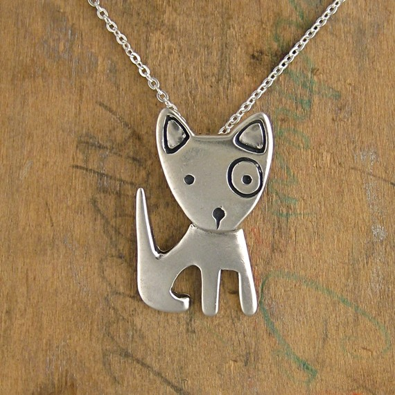 Spot Pibble Sterling Silver Necklace