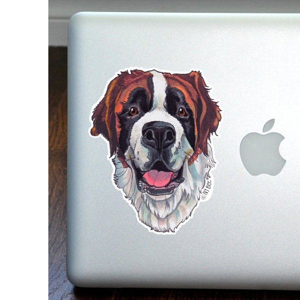 Saint Bernard Full Color Large Decal
