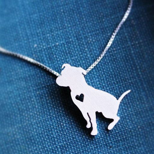 Mayday Sterling Silver Pit Bull Necklace